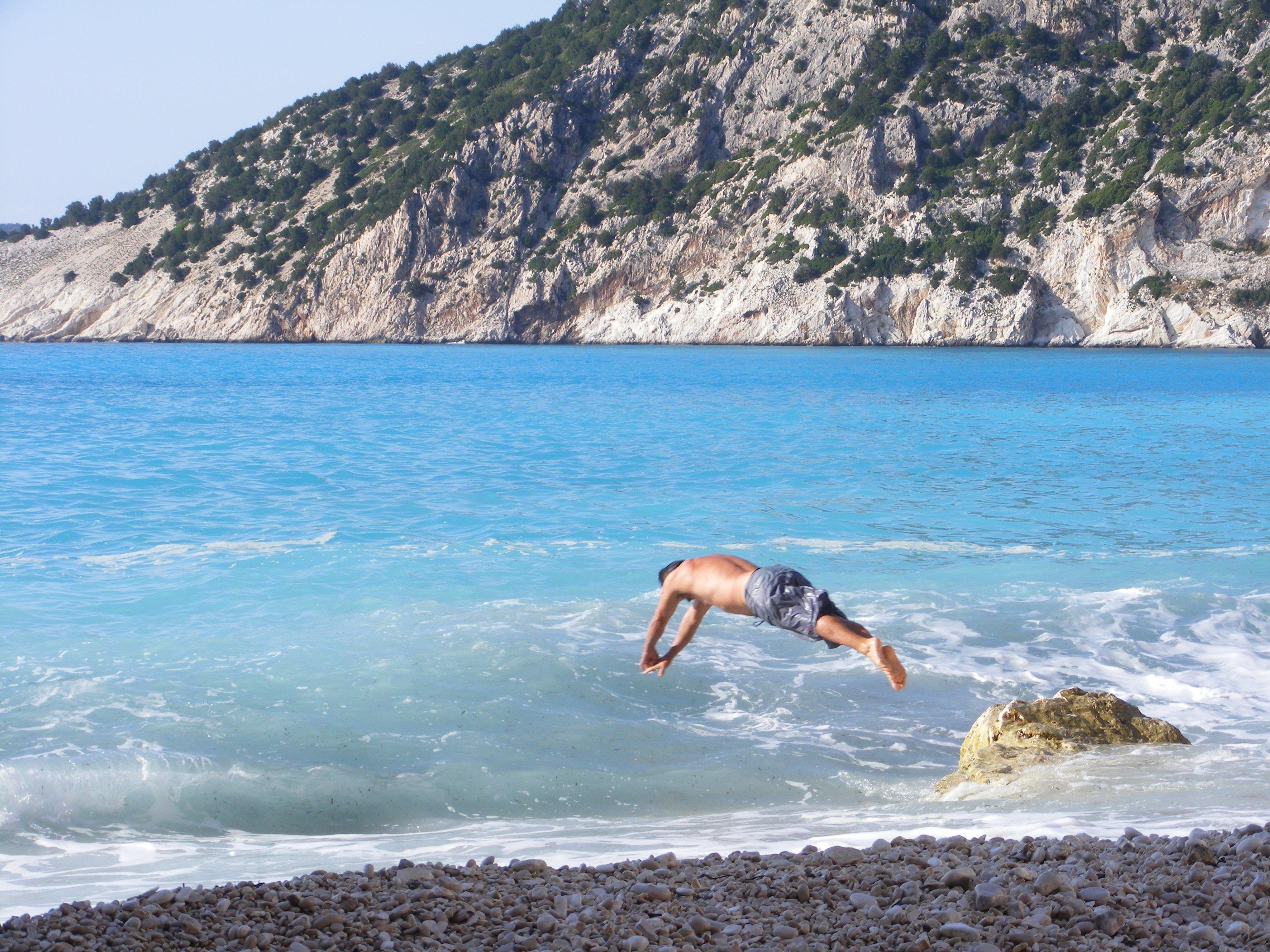 Myrtos Beach - The Best Beach On Kefalonia!