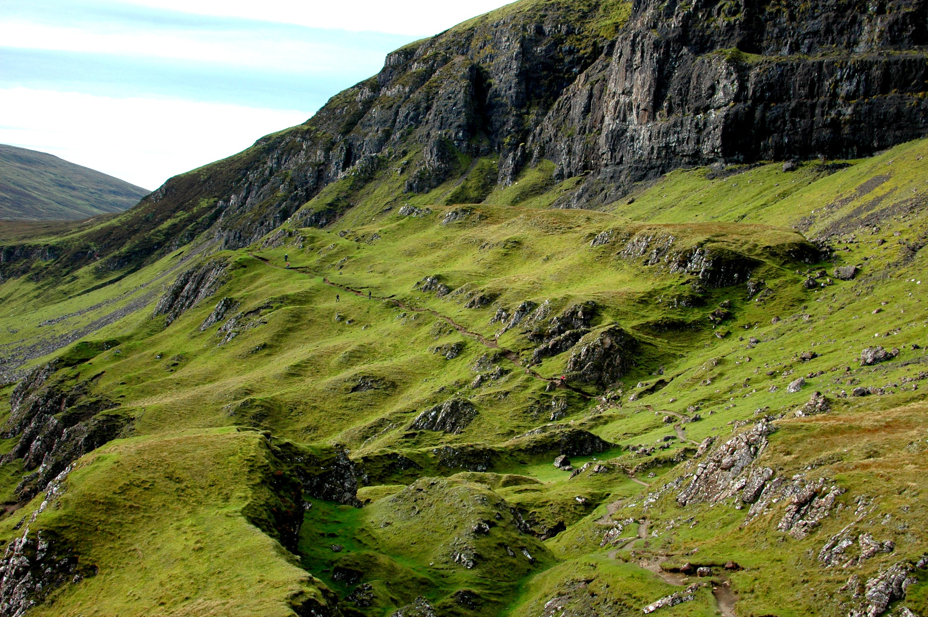 Hiking the Quiraing on the Isle of Skye, Scotland