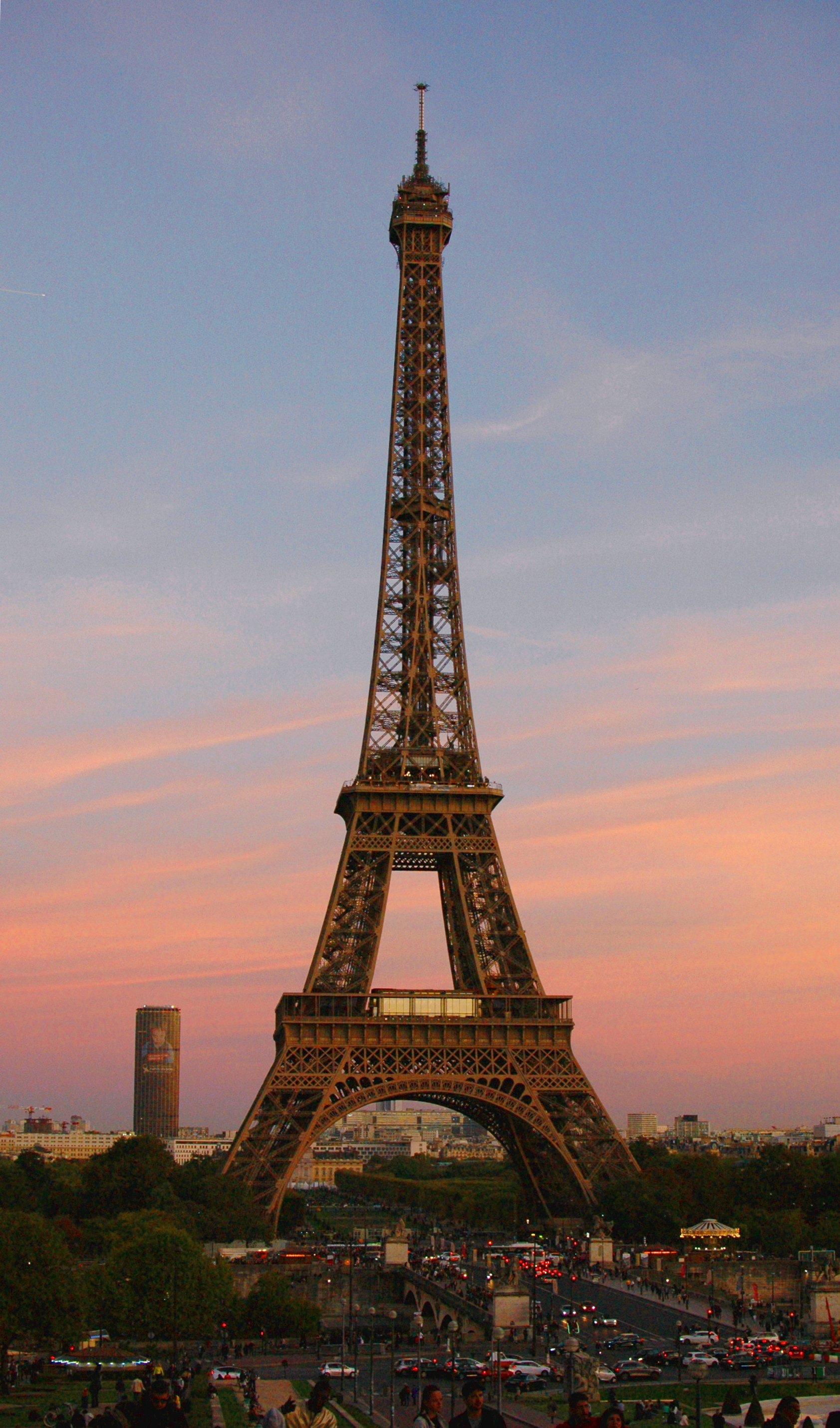 Eiffel Tower at Sunset, Paris, France