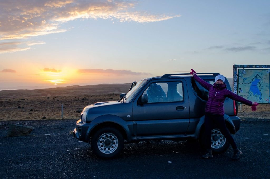A Useful Travel Guide to Iceland - Hiring a car in Iceland, Sunrise in Thingvellir National Park