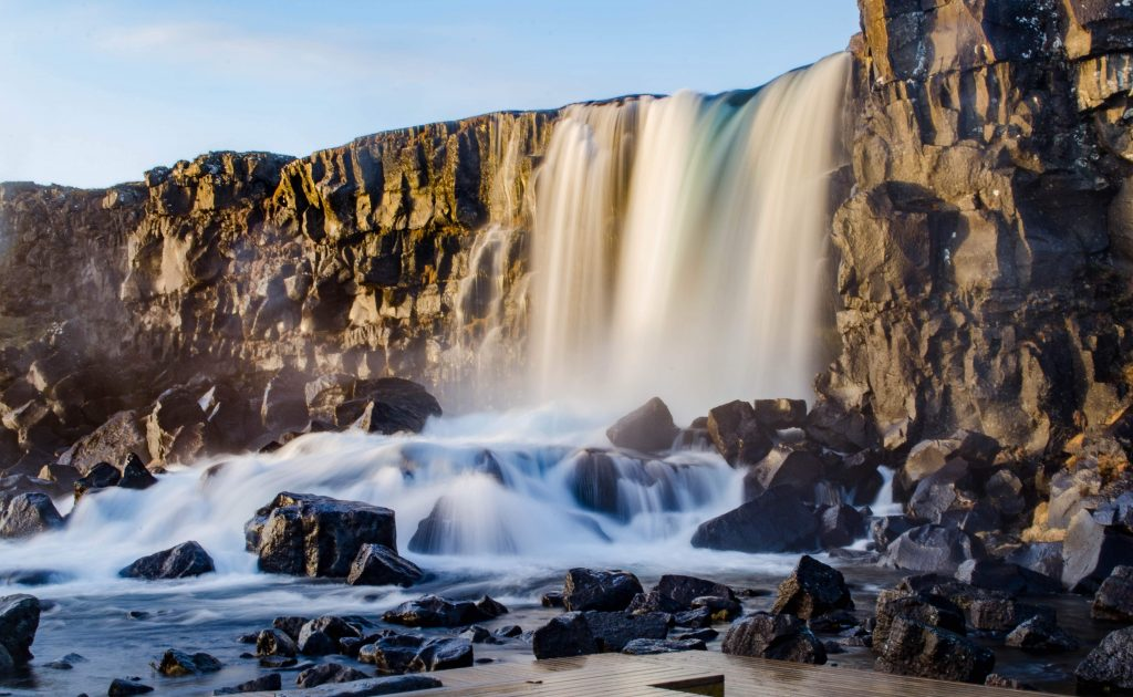 A Useful Travel Guide to Iceland - Oxarafoss Waterfalls, Thingvellir National Park